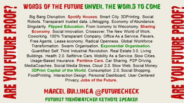 You should know the Words of the Future. They unveil the world to come