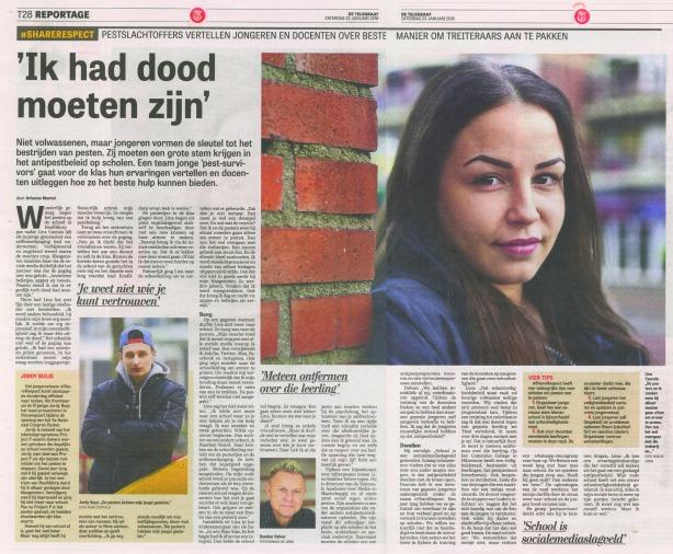 Interview met Lina Cascais en Bamber Delver in Telegraaf 23 01 2016